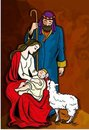 Beautiful Nativity Illustration Royalty Free Stock Image