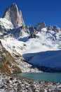 Beautiful nature landscape with Mt. Fitz Roy as seen in Los Glaciares National Park, Patagonia, Argentina Stock Image