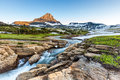 Beautiful nature at logan pass glacier national park mt in summer Stock Photography