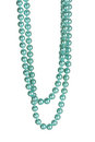 Beautiful necklace of blue pearls Royalty Free Stock Photo