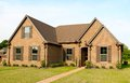 Beautiful New Construction Suburban Home for Sale Royalty Free Stock Photo