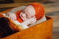 Beautiful newborn sleeping baby boy Royalty Free Stock Photo
