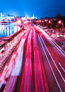 Beautiful night city in motion Royalty Free Stock Images