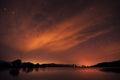Notte cielo stelle nuvole e