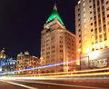 Beautiful night view of shanghai bund Royalty Free Stock Photo