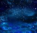 Beautiful nightly sky with stars elegant abstract background of night Royalty Free Stock Photography