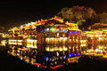 Beautiful nightscape of fenghuang ancient town china Royalty Free Stock Image