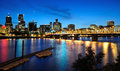 A Beautiful nightview of portland city Royalty Free Stock Photo