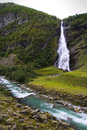 Beautiful north waterfall Stock Images