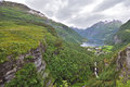 Beautiful Norway landscape of Geiranger Fjord Royalty Free Stock Photo