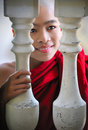 Beautiful novice monk in myanmar,(burma) Stock Images