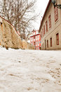 Beautiful novy svet street prague czech republic Royalty Free Stock Photography