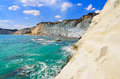 Beautiful ocean beach scala dei turchi in sicily italy Stock Photos