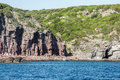 Beautiful ocean rocky coastline panorama Sardegna island Sardinia Italy Royalty Free Stock Photo