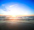 Beautiful ocean sunset tеravel serenity calm relaxation Royalty Free Stock Photography