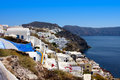 Beautiful oia in santorini island village greece Royalty Free Stock Photo