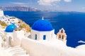 Beautiful Oia village on Santorini, Greece Royalty Free Stock Photo