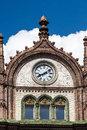 Beautiful old Art Nouveau building with clocks in Budapest, Hung Royalty Free Stock Photo