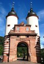 Beautiful Old Bridge Gate in Heidelberg, Germany Stock Photo