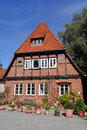 Beautiful old building in Lueneburg Stock Photo