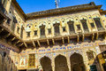 Beautiful old haveli in mandawa india Royalty Free Stock Images
