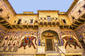 Beautiful old haveli in mandawa india oct on oct india rajasthan india the town referres as the open art gallery of Stock Images