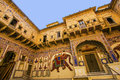 Beautiful old haveli in mandawa india oct on oct india rajasthan india the town referres as the open art gallery of Stock Image