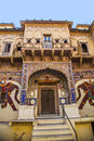 Beautiful old haveli in mandawa india oct on oct india rajasthan india the town referres as the open art gallery of Royalty Free Stock Photo