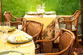 Beautiful old restaurant italy Stock Photography