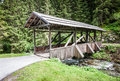 Beautiful old wooden bridge creek austria Stock Images