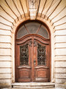 Beautiful old wooden door close up Stock Photos