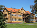 Beautiful old wooden house, Lithuania Royalty Free Stock Photo