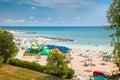 Beautiful Olimp beach in summer, Romania. Royalty Free Stock Photo