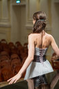 Beautiful opera singer is back in the concert hall Royalty Free Stock Photo