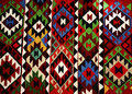 Beautiful Oriental Turkish handmade rugs on white background Royalty Free Stock Photo
