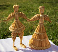 Beautiful original straw doll is made on motives of folk traditions and crafts russia Stock Photos