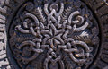 Beautiful ornament on stone, part of khachkar Royalty Free Stock Photo