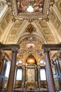 Beautiful church ceiling in Rome, Italy Royalty Free Stock Photo