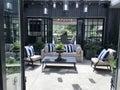 Beautiful Outdoor Patio - Courtyard Royalty Free Stock Photo