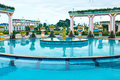 Beautiful outdoors Swimming pool Royalty Free Stock Photography