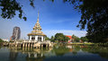 Beautiful pagoda on middle of a lake Royalty Free Stock Photos