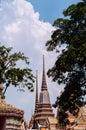 Beautiful Pagodas At Wat Pho Or Wat Phra Chetuphon In Bangkok Old Town
