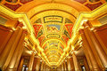Beautiful painting on the ceiling at the venetian hotel macao famous and luxury and casino resort complex Stock Photography