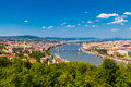 Beautiful panorama budapest castle danube Royalty Free Stock Photo
