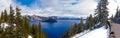 Beautiful Panorama of Crater Lake Royalty Free Stock Photo