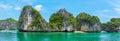 Beautiful panorama of halong bay vietnam southeast asia Stock Image