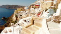 Beautiful panorama of santorini greece Royalty Free Stock Photography