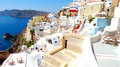 Beautiful panorama of santorini greece Stock Photography
