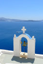 Beautiful panorama of santorini greece Royalty Free Stock Photos