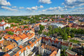 Beautiful panorama of Vilnius Old Town, Lithuania Royalty Free Stock Photo